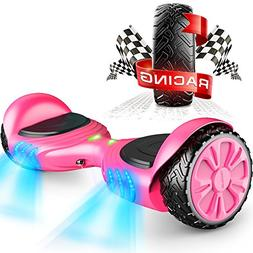 TOMOLOO Racing-Grade Widened Tires LED Hoverboard for Kids a