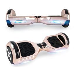 Rose Gold Electric Hoverboard 6.5in Wheels LED Sensor Lights
